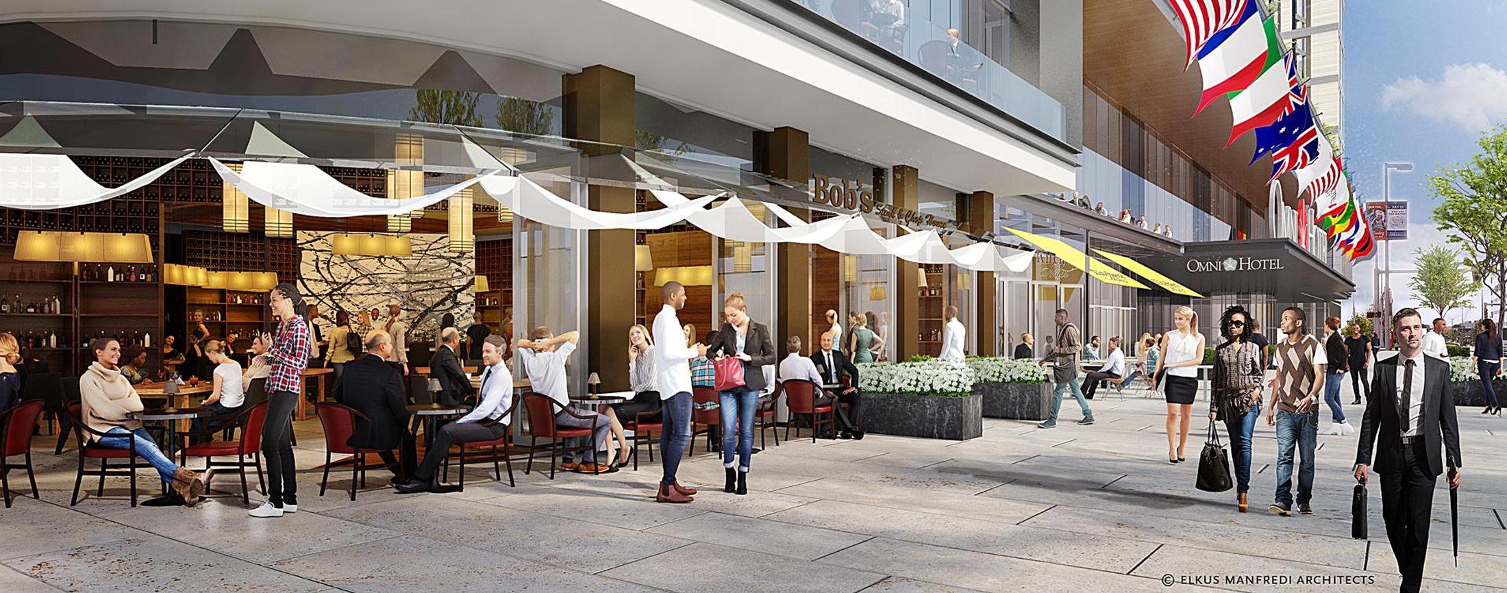 New Omni Hotel Breaks Ground Across From BCEC