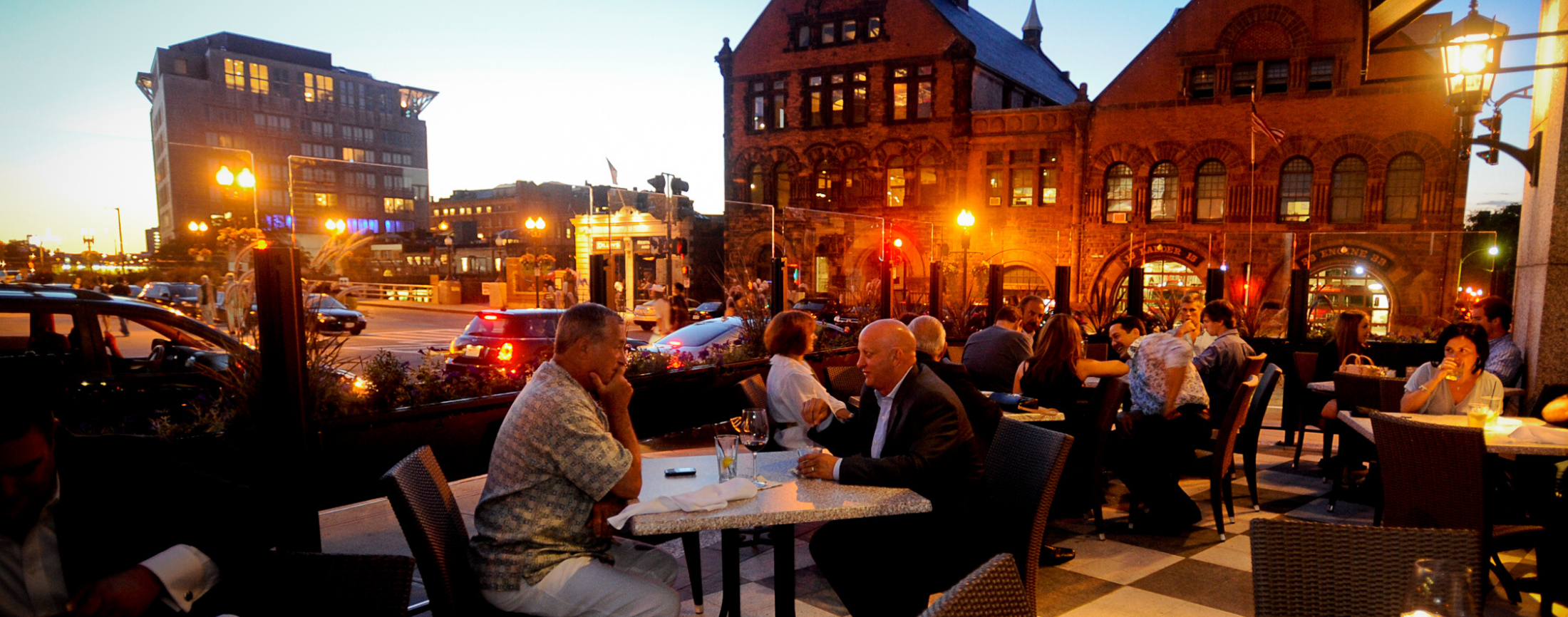 Outdoor dining near the Hynes